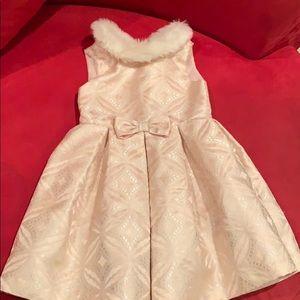 FUR COLLAR DRESS